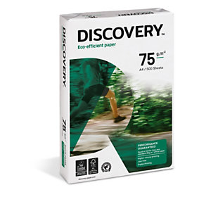 Discovery Papier A4 blanc 75g éco-responsable - Ramette de 500 feuilles