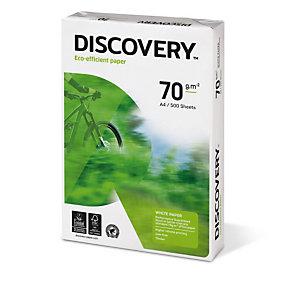 DISCOVERY Papier d'impression A4, 70 g/m², blanc (lot de 5 Ramettes)
