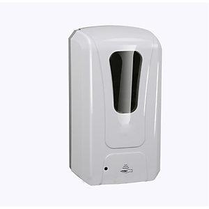 Dispenser automatico per saponi, liquidi e gel igienizzanti, Capacità 1.200 ml, Bianco