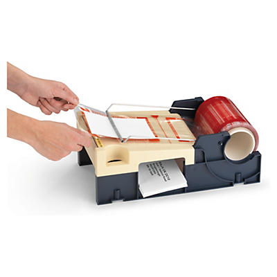 Dispenser for documents enclosed labels on a roll