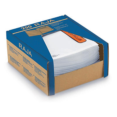 """Dispenserförpackning med 250 packsedelskuvert - 70 my - Tryck """"PACKSEDEL"""""""
