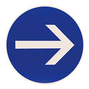 Disque de signalisation flèche sens obligatoire ø 30 cm