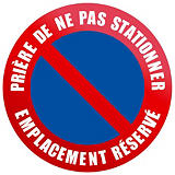 Disque de signalisation d'interdiction de stationner emplacement réservé ø 30 cm