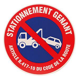 Disque de signalisation d'interdiction de stationner, stationnement gênant ø 45 cm