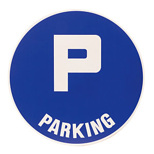 Disque de signalisation parking ø 30 cm