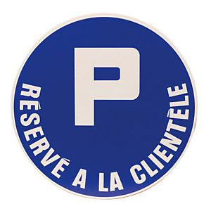 Disque de signalisation parking réservé à la clientèle ø 30 cm