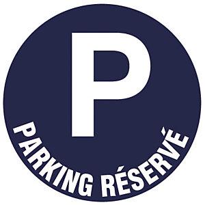 Disque de signalisation parking réservé ø 30 cm