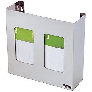 Distributeur pour 2 boites de gants, Inox