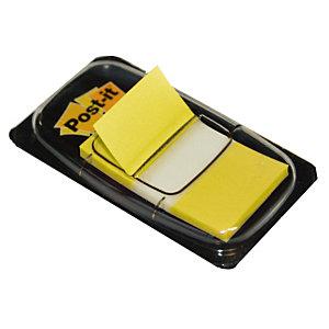 Distributeur de 50 index Post-it®  largeur 25 mm coloris jaune