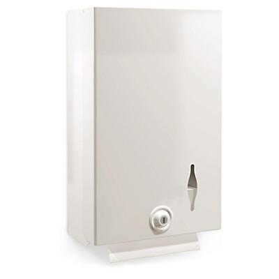 Distributeur essuie-mains métal blanc