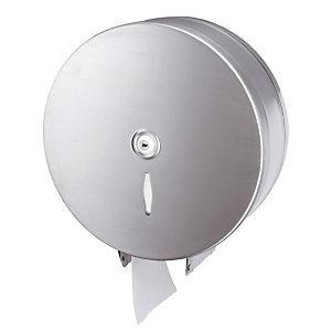 Distributeur de papier toilette en maxi bobine, inox