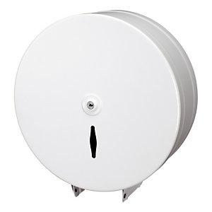 Distributeur de papier toilette Mini jumbo - JVD - Blanc