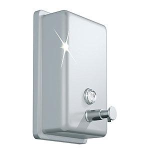 Distributeur savon aluminium brossé