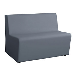 Divanetto modulare Trendy 2 posti Colore Grigio
