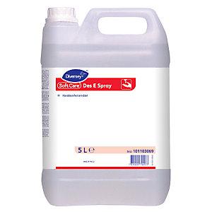 Diversey Liquido Igienizzante contro virus e batteri Soft Care DES E Spray H5, Tanica 5 l