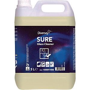 Diversey SURE Glass Cleaner Detergente per vetri A base vegetale Biodegradabile al 100% 5 litri