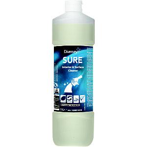 Diversey SURE Interior & Surface Cleaner Detergente per interni e superfici A base vegetale Biodegradabile al 100% 1 litro