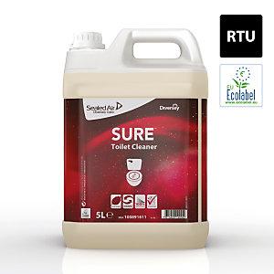 Diversey SURE Toilet Cleaner Detergente per WC A base vegetale Biodegradabile al 100% 5 litri