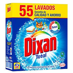 DIXAN Total Detergente para máquina en polvo con quitamanchas y anti-cal, 3,025 kg, 55 lavados