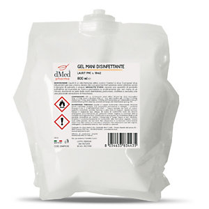 DMED PHARMA Gel mani disinfettante, Sacca per dispenser 800 ml