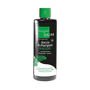 Doccia & Shampoo insetto-repellente INSTOP Incognito Skin, Citronella di Java, Bergamotto, Tea Tree, Flacone 200 ml