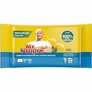 Doekjes voor oppervlaktereiniging Mr Propre citroen, etui van 32 XL doekjes
