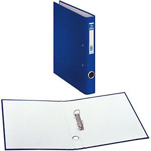 DOHE Oficolor Box de 4 carpetas de anillas, Folio, cartón plastificado, lomo 40 mm, azul