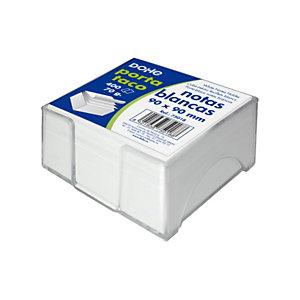 DOHE Soporte transparente + taco de notas sueltas 90 x 90 mm blanco