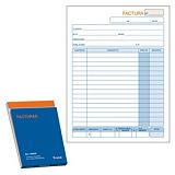DOHE Talonario preimpreso en castellano para facturas 144 x 210 mm con copia 50 hojas x 2