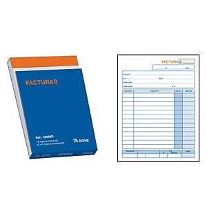 DOHE Talonario preimpreso en castellano para facturas 8º natural 105 x 148 mm con copia 50 x 2