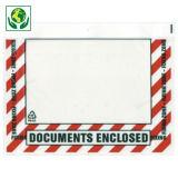 Dokumententaschen mit Repetierverschluss, bedruckt