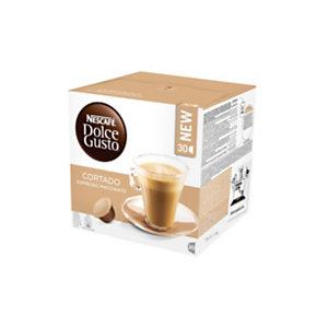 DolceGusto Cortado Espresso Macchiato Capsule per caffè, Espresso, 30 dosi, 189 g (confezione 30 pezzi)