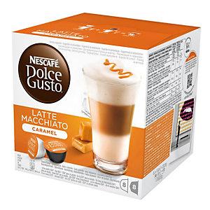 DolceGusto Dolce Gusto Latte Macchiato Caramel Set di caffè e latte (capsula), Latte Macchiato, 8 dosi, 158,8 g