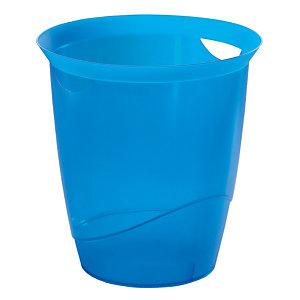 Doorschijnende blauwe papiermand Trend 16 L