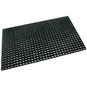 Doortex Tapis d'extérieur rectangle en caoutchouc 80 x 120 cm - Noir