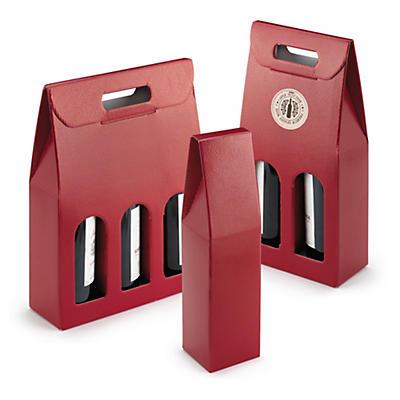 Boîte et sac pour bouteilles effet Lézard##Doos en draagtas voor flessen Hagedis