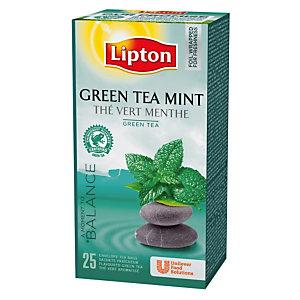 Doos van 25 builtjes Lipton Green muntthee
