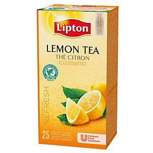 Doos van 25 theebuiltjes Lipton Citroen