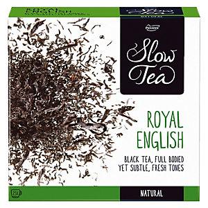 Doos van zwarte thee, Slow Tea Royal English 25 builtjes.