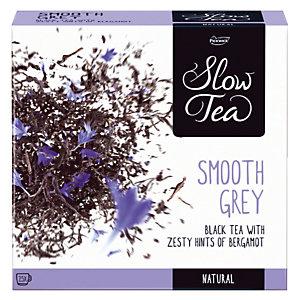 Doos van zwarte thee, Slow Tea Smooth Grey 25 builtjes.