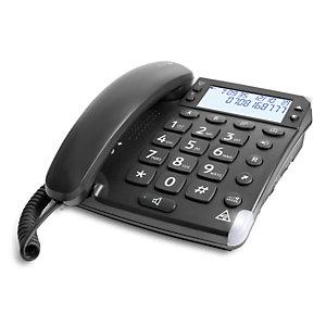 Doro Magna 4000, Téléphone analogique, Haut-parleur, 50 entrées, Identification de l'appelant, Noir 6377