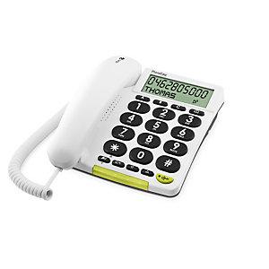 Doro Phone Easy 312Cs, Téléphone analogique, Haut-parleur, 30 entrées, Identification de l'appelant, Blanc 5640