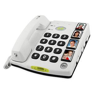 Doro Secure 347, Téléphone analogique, Haut-parleur, 4 entrées, Blanc 4209