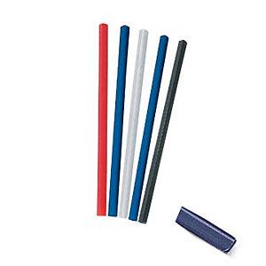 Dorsi rilegafogli, 6 mm rotondo, Blu (confezione 25 pezzi)