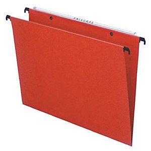 Dossier suspendu Budget pour tiroirs - kraft - volet d'agrafage - fond U 15 mm - orange