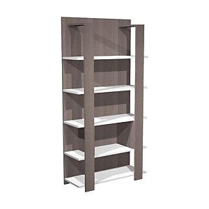Dream Libreria componibile alta, 100 x 38,6 x 198 cm, Frassino graphite/bianco