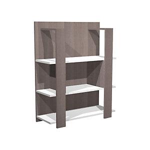 Dream Libreria componibile bassa, 100 x 38,6 x 123,6 cm, Frassino graphite/bianco