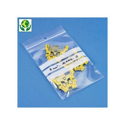 Druckverschlussbeutel RAJAGRIP Eco 50µ mit Beschriftungsfeldern