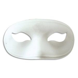 DTM Masque simple en plastique Blanc, à décorer