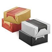 Dual-coloured Kraft paper gift wrap
